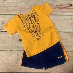 Nike 24m Short Sleeve Shorts Outfit Set Bundle